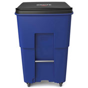 Rubbermaid Brute® Rollout Waste Container W/ Casters 95 Gallon Blue - 1971996