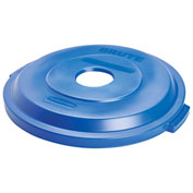 Rubbermaid Brute® Bottle/Can Recycling Lid for 32 Gallon Can Blue - 1788376