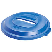 Rubbermaid Brute® Paper Recycling Lid for 32 Gallon Can Blue - 1788378