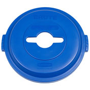 Rubbermaid Brute® Single Stream Recycling Lid for 32 Gallon Can Blue - 1788380