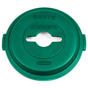 Rubbermaid Brute® Single Stream Recycling Lid for 32 Gallon Can Green - 1788471