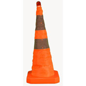 "Cortina 28"" Pop-up Traffic Cone, LED Light, Orange, 03-500-80"