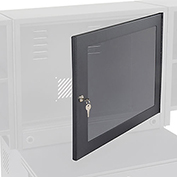 Optional Door with Acrylic Window For Fold-Out Cabinet - Black