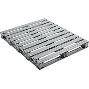 "Global Industrial™ Galvanized Steel Pallet - 40""L x 48""W x 4-3/4""H"