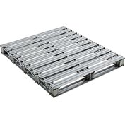 "Global Industrial™ Galvanized Steel Pallet - 42""L x 48""W x 4-3/4""H"