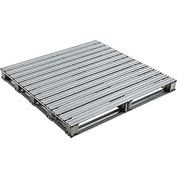 "Global Industrial™ Galvanized Steel Pallet - 48""L x 48""W x 4-3/4""H"