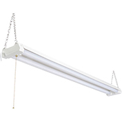 4' LED Shop Light, 40W, 5000K, 4000 Lumens, 5' Cord, Frosted Lens, Hanging Hardware Included