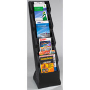 "Forte Literature Stand 15.5""L x 17""W x 55""H  - 9 Pocket -Black"