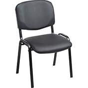 Stacking Guest Chair (Unassembled) - Vinyl - Black