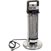 "HeTR H1013UPS Patio Tower Heater - Electric Radiant - 25""H - 900 Watts"
