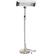 HeTR H1018UPS Pedestal Patio Heater - Electric Infrared Radiant - 1500 Watts