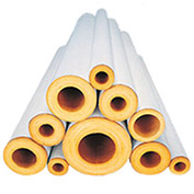 "Johns Manville 1/2C X 3' FT FIBERGLASS PIPE INSULATION 1/2"" WALL - Pkg Qty 110"
