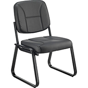 Armless Bonded Leather Reception Chair