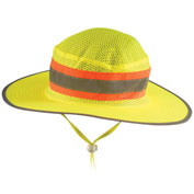 OccuNomix LUX-RNG-YL High Visibility Ranger Hat LUX-RNG-YL, Hi-Viz Yellow, L