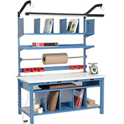 Complete Electronic Packaging Workbench ESD Square Edge - 60 x 30