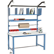 Packaging Workbench ESD Square Edge - 72 x 30 with Riser Kit