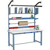 Electronic Packaging Workbench Plastic Safety Edge - 60 x 30 with Riser Kit