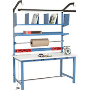 Electronic Packaging Workbench ESD Square Edge - 60 x 30 with Riser Kit