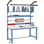 Electronic Packaging Workbench ESD Safety Edge - 60 x 30 with Riser Kit