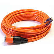 Century D14412050OR ProLock Extension Cord, 12/3 SJTW, 50', Lighted Ends, Orange