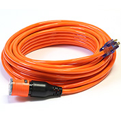 Century D14410050OR ProLock Extension Cord, 10/3 SJTW, 50', Lighted Ends, Orange