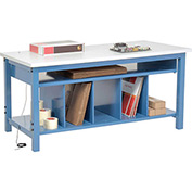Packaging Workbench ESD Square Edge - 72 x 30 with Lower Shelf Kit