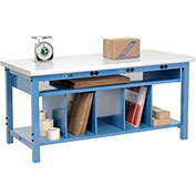 Electronic Packaging Workbench Plastic Safety Edge - 72 x 30 with Lower Shelf Kit