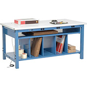 Electronic Packaging Workbench ESD Safety Edge - 72 x 30 with Lower Shelf Kit