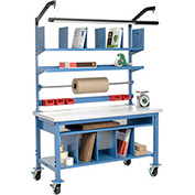 Complete Mobile Packaging Workbench Plastic Square Edge - 60 x 30