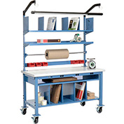Complete Mobile Electronic Packaging Workbench Plastic Safety Edge - 60 x 30