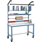 Mobile Packaging Workbench Plastic Safety Edge - 60 x 30 with Riser Kit