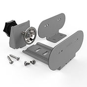 Wiremold WSPCBKTGY Mounting Kit for Desktop Power Center, Mounting Plate & Clamp, Gray