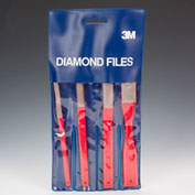 3M Flexible Diamond Hand File Set 6210J M74 Micron Grit 5 Sets