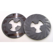 "3M™ Disc Pad Face Plate Ribbed 81734, 5"" Medium Gray - Pkg Qty 10"