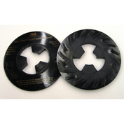 "3M™ Disc Pad Face Plate Ribbed 81733, 5"" Hard Black - Pkg Qty 10"