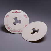 "3M™ Disc Pad Face Plate 45194, 7"" Soft White - Pkg Qty 10"