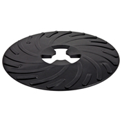 "3M™ Disc Pad Face Plate Ribbed 81729, 9"" Hard Black - Pkg Qty 10"