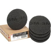 3M™ Black Stripper Pad 7200, 12 in, 5/case