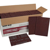"3M™ Scotch-Brite™ General Purpose Hand Pad 7447B 6"" x 9"" Aluminum Oxide VFN Grit 60 Pk"