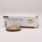 "3M Adhesive Transfer Tape 969 1/4"" x 36 Yds 5 Mil Clear - Pkg Qty 144"