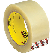 3M Carton Sealing Tape 355 48mm x 50m 3.5 Mil Clear - Pkg Qty 36