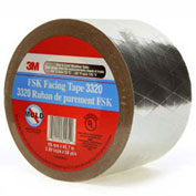 "3M™ FSK Facing Tape 3320 Silver, 3-7/8"" x 150', 6.7 Mil - Pkg Qty 12"