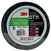 "3M™ Heavy Duty Duct Tape DT11 Black, 1-7/8"" x 180', 11 Mil - Pkg Qty 24"