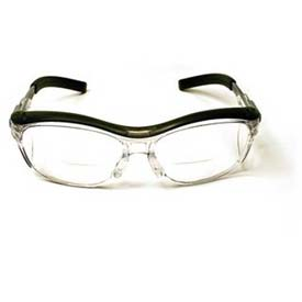3M™ NUVO™  Reader Protective Eyewear, Clear Lens, Gray Frame, 1.5 Diopter