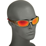 3M™ Fuel™ Protective Eyewear, Red Mirror Lens, Metallic Sand Frame