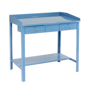 "48""W x 30""D Extra-Wide Shop Desk - Blue"