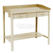 "48""W x 30""D Extra-Wide Shop Desk - Putty"