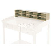 "8 Pigeon Hole Riser for 48""W Shop Desk - Putty"