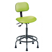 "BioFit Operator Chair -  Height 25 - 32"" - Black Vinyl - Black Powdercoat Frame"