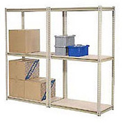 "High Capacity Add-On Rack 60""W x 36""D x 84""H With 3 Levels Wire Deck 1300 Lb Cap Per Level"